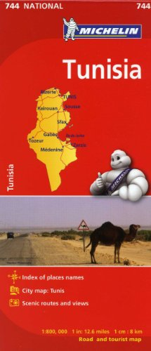 Michelin Map Africa Tunisia 744 (Maps/Country (Michelin))