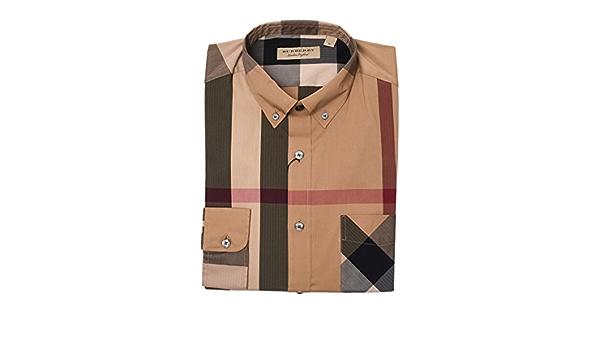 Burberry Hombre 4045831 Multicolor Algodon Camisa: Amazon.es ...