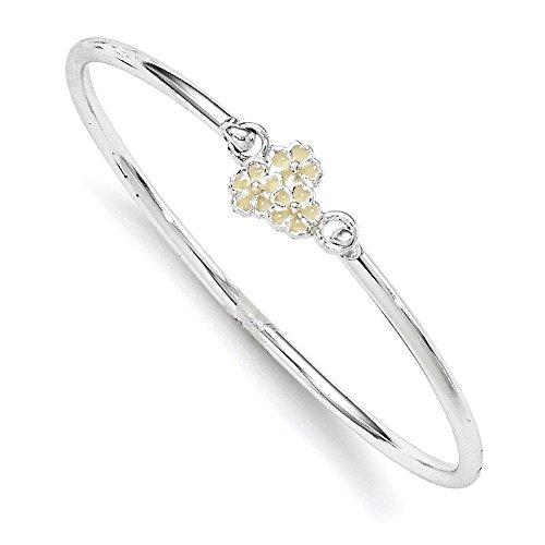 Argent 925/1000–Émail jaune et Bracelet-JewelryWeb pour enfant