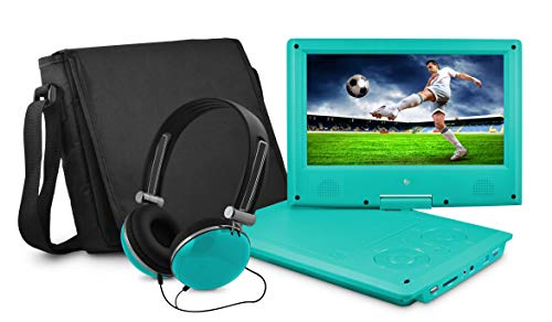 """Ematic 9"""" Portable DVD Player Teal EPD909TL"""