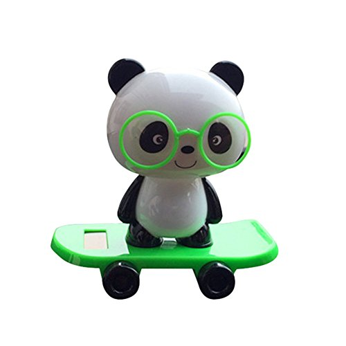 Killer Panda Costume (Car Decor, Hometom Solar Powered Dancing Panda Animal Swinging Animated Bobble Dancer Toy (Green))