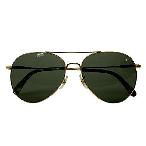 óptica Verde Verdadero Color Gafas 52 Oro espátula Sol de nbsp;mm Alambre American General zwx855