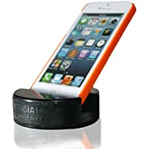PUCKUPS - Indestructible Hockey Puck Cell Phone Stand - The Best Universal Smartphone/iPhone Xs Xs Max Xr X 8 7 6 / All Samsung Galaxy/Note / Google Pixel/PUCKUP Made From a REAL Hockey Puck