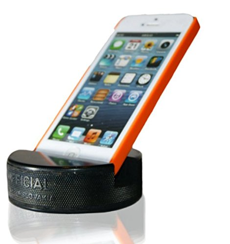 (PUCKUPS - Indestructible Hockey Puck Cell Phone Stand - The Best Universal Smartphone/iPhone Xs Xs Max Xr X 8 7 6 / All Samsung Galaxy/Note/Google Pixel/PUCKUP Made from a Real Hockey Puck)