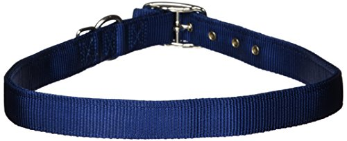 Hamilton Double Thick Nylon Deluxe Dog Collar, 1-Inch by 30-Inch, Navy Blue