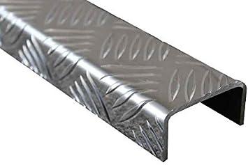 1500mm Aluminium U-Profil 20x40x20mm Kantenprofil aus 2mm Aluminium silber natur eloxiert Abdeckleiste