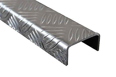 1500mm Aluminium U-Profil 20x40x20mm Kantenprofil aus 1 mm Aluminium silber natur eloxiert Abdeckprofi