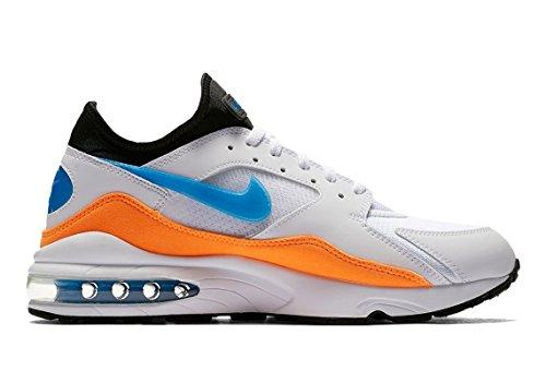 the latest 79209 324af order nike mens air max 93 og running shoes white blue nebula total orange black  306551