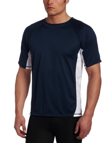 Kanu Surf Men's Big CB Extended-Size Rashguard UPF 50+ Swim Shirt, Navy, 4X