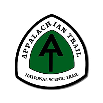 American Vinyl Appalachian National Scenic Trail Sign Shaped Sticker (Hiking Hike at Hiker): Automotive