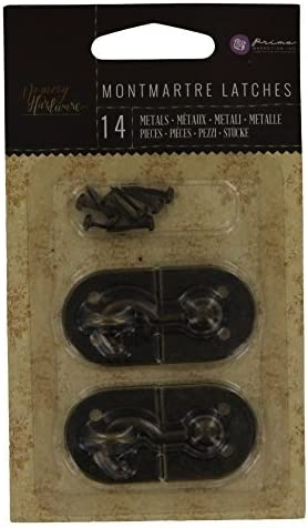 Prima Marketing 655350990336 Memory Hardware Montmartre Latch Scrapbooking Embellishments