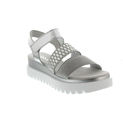 Grey Grey 19 Argenté Sandales 610 Femme Silber 83 Silber Pour Gabor RqAx87p