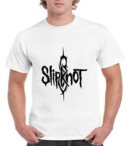 - Slipknot Logo T-Shirt - Slipknot Heavy Metal Band - Slipknot Shirt (XX-Large) White