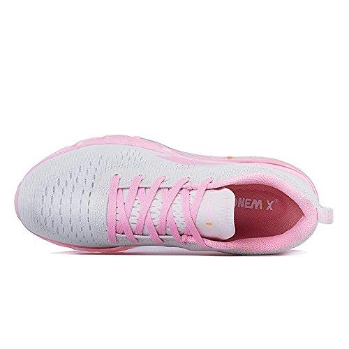 mit onemix Schuhe Walking Sportschuhe Sneaker Schuhe Damen für Frauen Pink Laufschuhe Max Turnschuhe Leichte Athletisch Luftpolster Air wrPx8wZgq