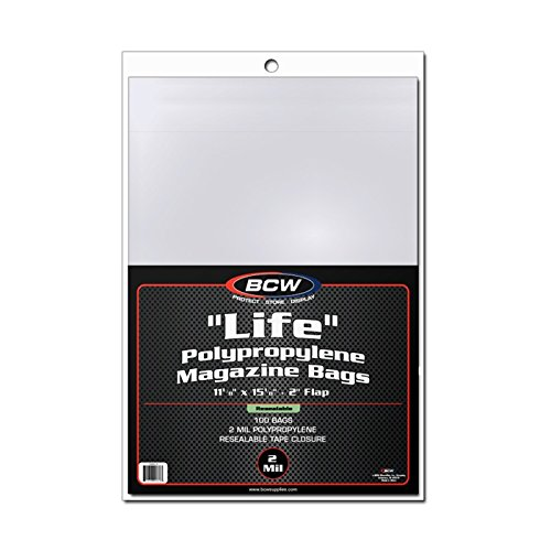 BCW 1-MAG-L-R Resealable''Life'' Magazine Bags