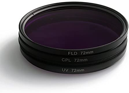 DESTINLEE 67mm UV FLD 3 in 1 lens filter with bag for Canon Nikon Sony Pentax Lenses for cameras CPL