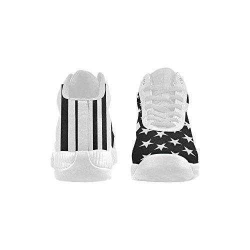 D-story Bandiera Americana In Bianco E Nero. Scarpe Da Basket Con Le Scarpe Da Ginnastica Per Aumentare Le Scarpe Da Ginnastica