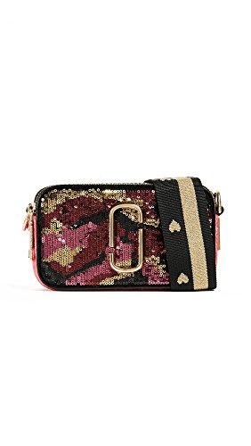 Marc Jacobs Women's Camo Sequin Snapshot Cross Body Bag