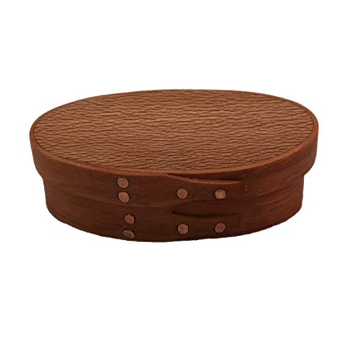 (Shaker Oval Box #00 with Cherry Bands and American Lacewood Top; Hand)