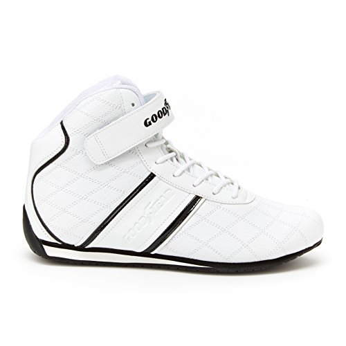 Goodyear Mens Clutch Racer Sneaker – High-Top Sneakers, PU Leather & Mesh ()