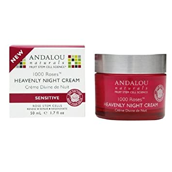 1000 Roses Heavenly Night Cream - 1.7 oz. by Andalou Naturals (pack of 1) Ren - Rose O12 Moisture Defence Serum (Dry Skin) - 30ml/1.02oz