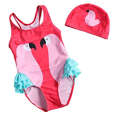Jurebecia Unicorn Girls Swimsuit Kids One Piece//Two Pieces Round-Neck Swimwear Rash Guard Bathing Suit 2-8Years
