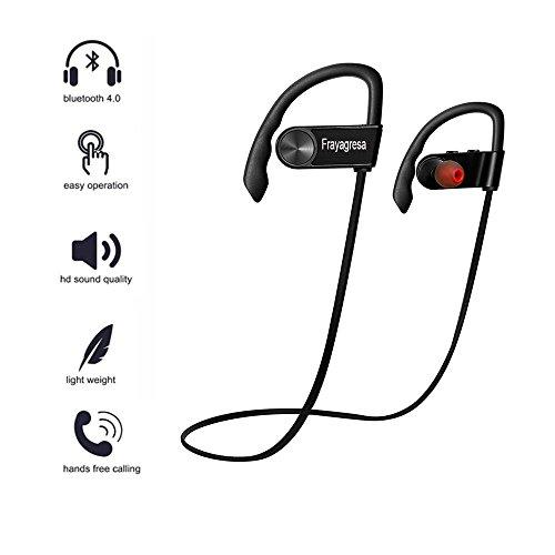 Bluetooth Headphones Wireless Earphones for Sport Running with Mic New Black By Frayagresa (Black)