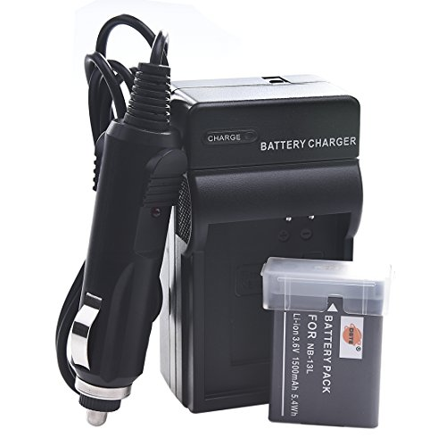 DSTE NB-13L NB13L Battery and Charger Kit for Canon PowerShot SX620 HS, SX720 HS, SX730 HS, G7 X Mark II, G9X Mark II, G5X, G7X, G9X, G1 X Mark III Camera