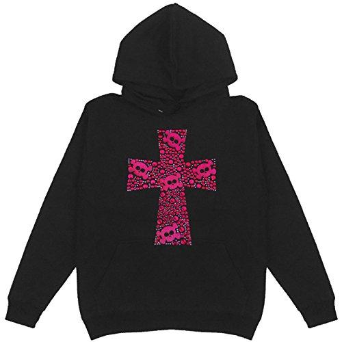 Skull Cross Women's Pullover Hoodie Plus Size Unisex Handmade Bling - Hoody Bling