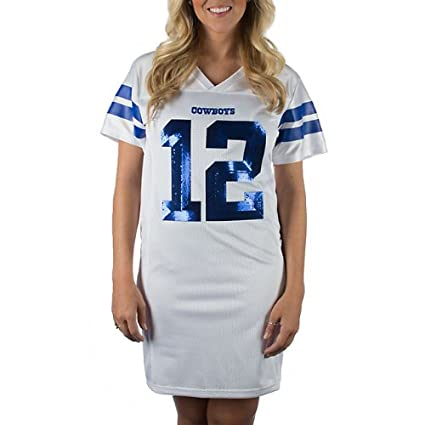 new york 5a29c 4ad20 Amazon.com : Dallas Cowboys Women's Viola Jersey Dress White ...