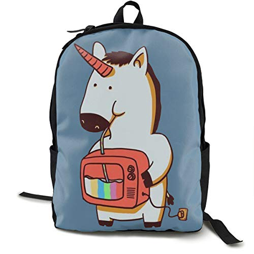Unique Unicorn Printed School Backpack Lightweight Travel Rucksack Bag Laptop Backpack]()