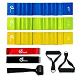 Odoland 5 Packs Resistance Loop Exercise Bands with Door Anchor and Handles, Rehab Bands with Carry Bag, Ebook for Core Exercise, Physical Therapy and at-Home Workouts Review
