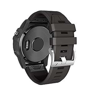 Quick Release Sport Band Replacement for Garmin Fenix 3/Fenix 3 HR/Fenix 5X/Fenix 5X Plus Smart Watch (Black)