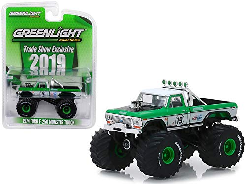 Greenlight 2019 Trade Show Exclusive 1974 Ford F-250 Monster Truck #19 1/64 Diecast Model Truck 30006