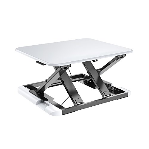TOTALPACK Standing Desk -X-Elite PRO Sit Stand Desk Converter - Anti Fatigue Height Adjustable Workstation, Extra Large 26.5