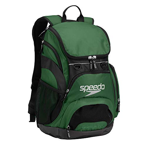 (Speedo Printed Teamster 35L Backpack, Hunter Green/Black, 1SZ )