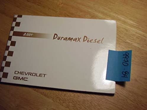 2004 chevrolet gmc duramax diesel supplement only owners manual rh amazon com duramax diesel supplement manual 2016 duramax diesel supplement manual 2012