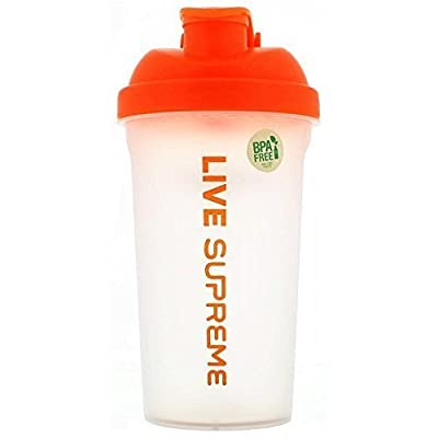 "Supreme Protein, Supreme Orange ""Live Supreme"" Shaker"