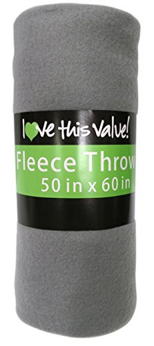 Cozy Fleece Throw Blanket Gray product image