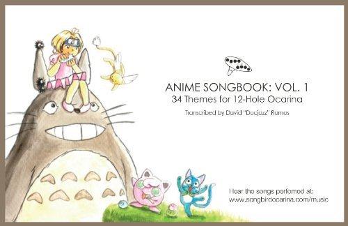 Anime Songbook for 12 Hole Ocarina (Legend Of Zelda Main Theme Sheet Music)