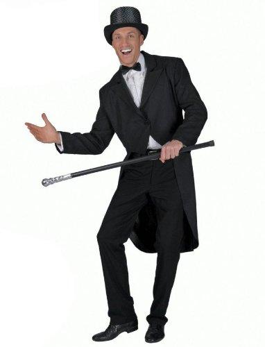 Clown Black Tailcoat Costume - Standard - Chest Size 42-44 (Clown Tailcoat Costume)