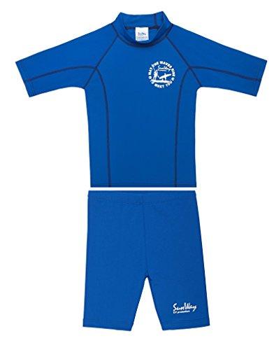 SunWay UPF 50+ Boys Rash Guard Short and Shorts swimsuit set UV Sun Protective (2-3 Years)