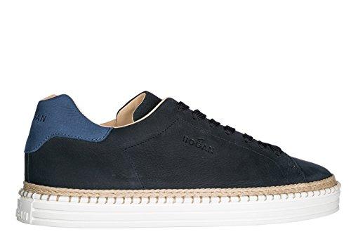 Hogan Scarpe Sneakers Uomo in Pelle Nuove R260 Blu