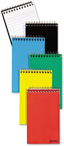 3//Pack 12 Pack Narrow White 3 x 5 60 Sheets Wirebound Pocket Memo Book