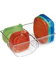 InterDesign Linus Lid Organizer for Kitchen Cabinet, Pantry Storage, Clear
