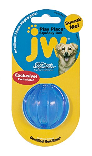 JW Pet Playplace Squeaky Ball - Small (color may (Jw Squeaky Toy)
