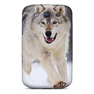 High Quality Shock Absorbing Case For Galaxy S3-gray Wolf Minnesota