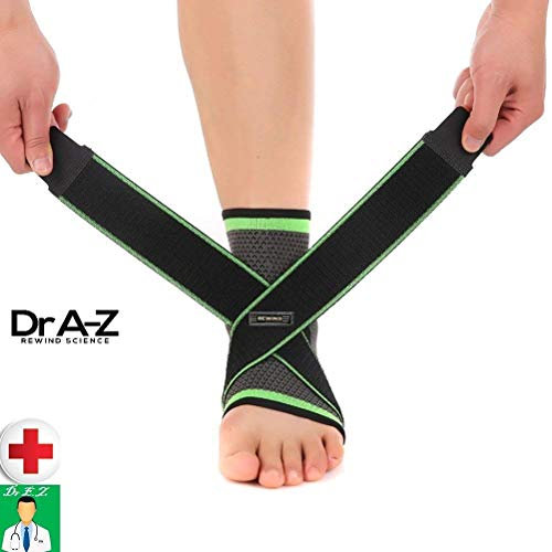 Dr A-Z Plantar Fasciitis Compression Sleeves Ankle Brace Support Thrombosis Clot Night Splint Socks Heel Spur Ankle Pain Relief for Men, Women, Nurses Maternity Pregnancy Running Gym Insoles Jog -1