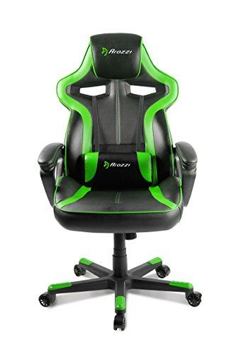 Arozzi milano sedia da gaming nero verde 50 x 55 x 130 for Sedie usate milano