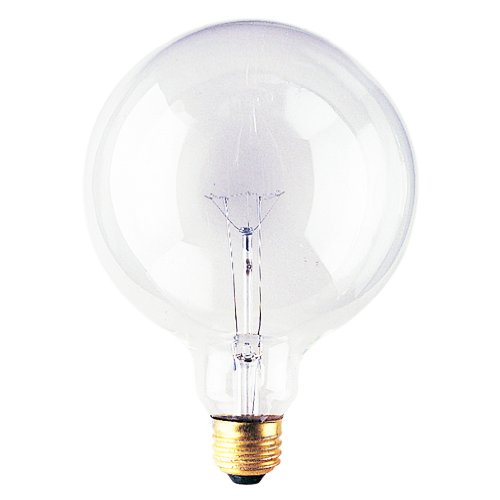 Bulbrite 40G40CL 40 Watt Incandescent G40 Globe Medium Base Clear 12 Ct